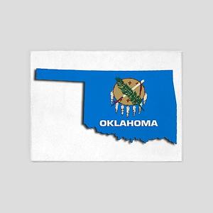 OKLAHOMA STATE FLAG 5'x7'Area Rug