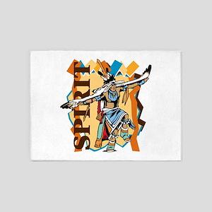 Native American Spirit Dance 5'x7'Area Rug