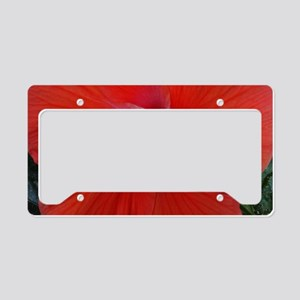 red hibiscus License Plate Holder