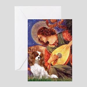 Mandolin Angel & Cavalier Greeting Card