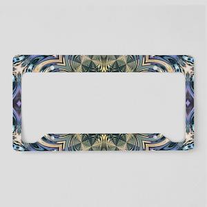romantic floral purple mandal License Plate Holder