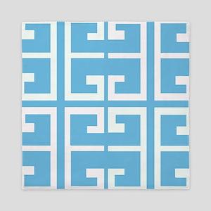 Light Blue Boy Tile Queen Duvet