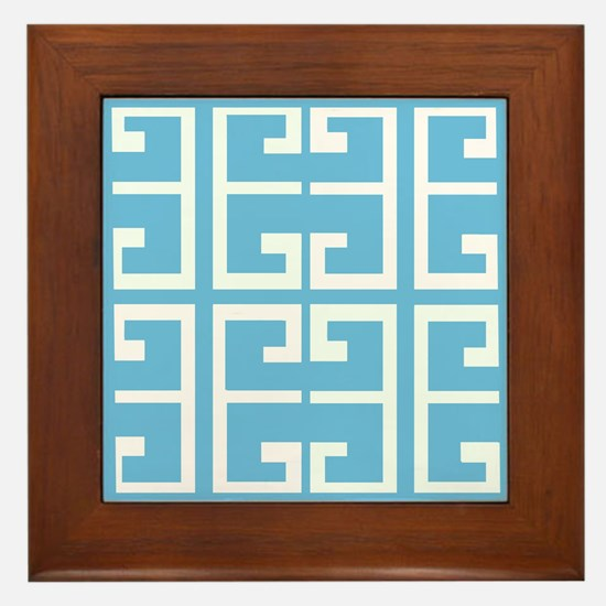 Light Blue Boy Tile Framed Tile