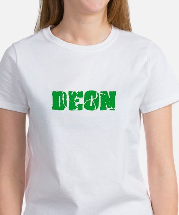 Deon Name Weathered Green Design T-Shirt