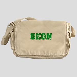 Deon Name Weathered Green Design Messenger Bag