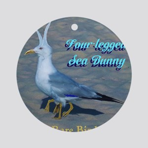 Four Legged Sea Bunny Bird Ornament (Round)
