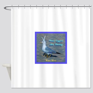Four Legged Sea Bunny Bird Shower Curtain