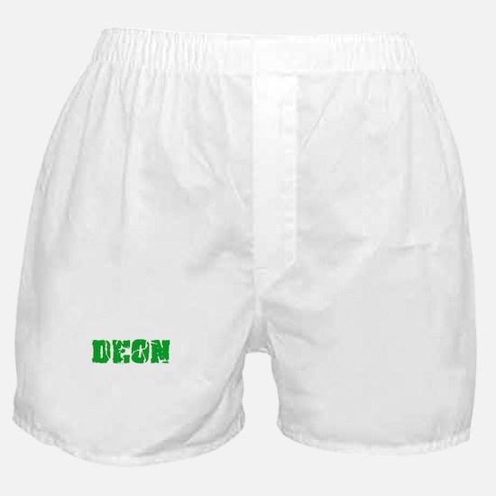 Deon Name Weathered Green Design Boxer Shorts