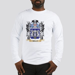 Kelly Coat of Arms - Family Cr Long Sleeve T-Shirt