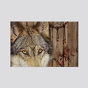 vintage Americana wild wolf Magnets