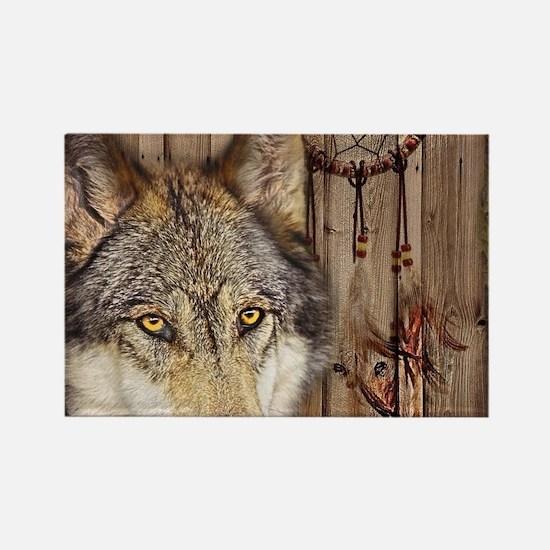 vintage Americana wild wolf Magnets