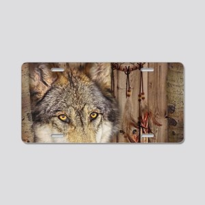 vintage Americana wild wolf Aluminum License Plate