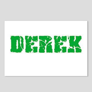 Derek Name Weathered Gree Postcards (Package of 8)
