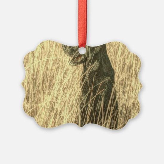rustic country Labrador dog Ornament