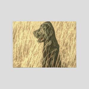rustic country Labrador dog 5'x7'Area Rug