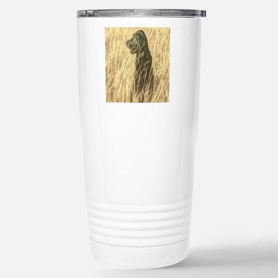 rustic country Labrador Stainless Steel Travel Mug