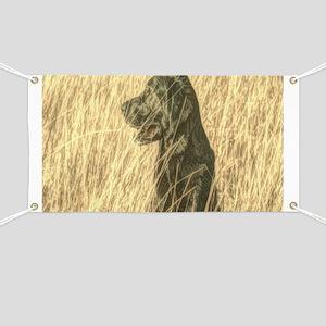 rustic country Labrador dog Banner