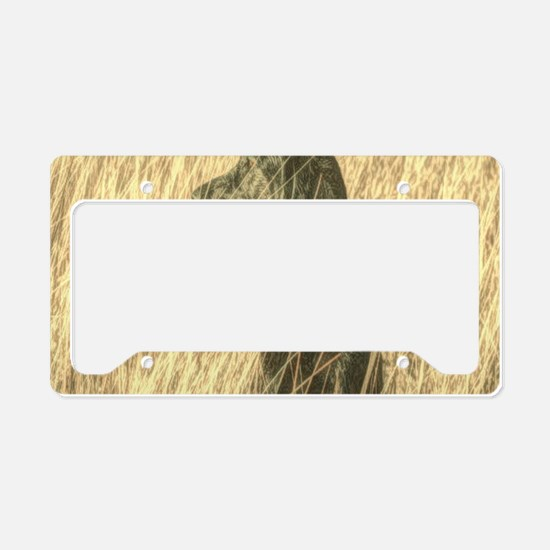 rustic country Labrador dog License Plate Holder