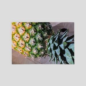 Pineapple Geometric Low Poly 4' x 6' Rug