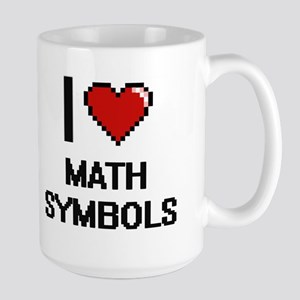 I Love Math Symbols Mugs
