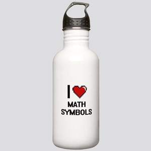 I Love Math Symbols Stainless Water Bottle 1.0L