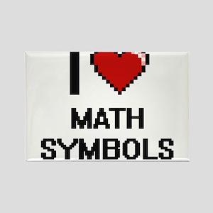 I Love Math Symbols Magnets