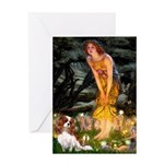 Fairies & Cavalier Greeting Card
