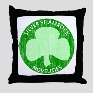 Silver Shamrock Throw Pillow