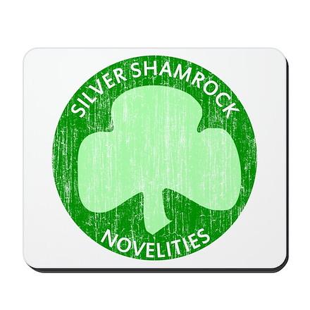 Silver Shamrock Mousepad