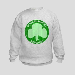Silver Shamrock Kids Sweatshirt