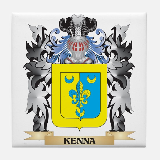 Kenna Coat of Arms - Family Crest Tile Coaster