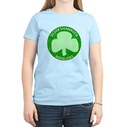 Silver Shamrock Womens Light T-Shirt