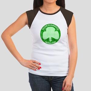 Silver Shamrock Women's Cap Sleeve T-Shirt