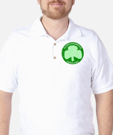 Silver Shamrock Golf Shirt