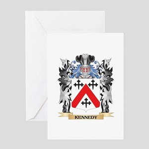 Kennedy- Coat of Arms - Family Cres Greeting Cards