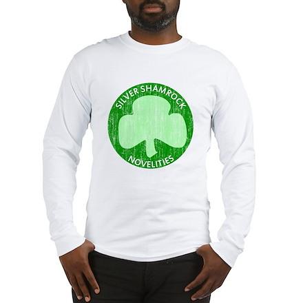 Silver Shamrock Long Sleeve T-Shirt