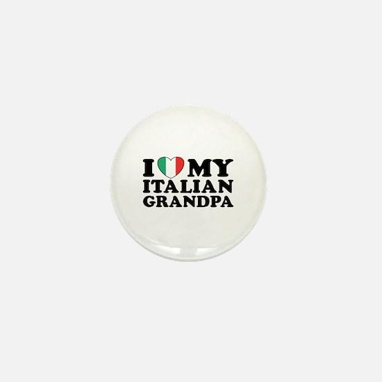 I Love My italian Grandpa Mini Button