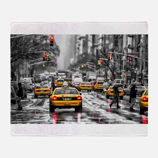 I LOVE NYC - New York Taxi Throw Blanket