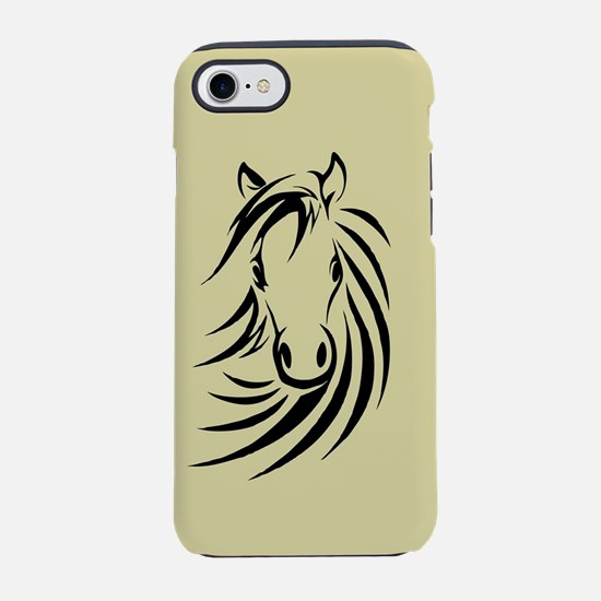 Black and Tan Horse Head iPhone 8/7 Tough Case