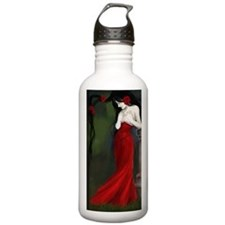 Red Roses In The Cemetery Water Bottle