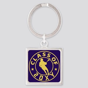 Class of 20?? Lacrosse Square Keychain