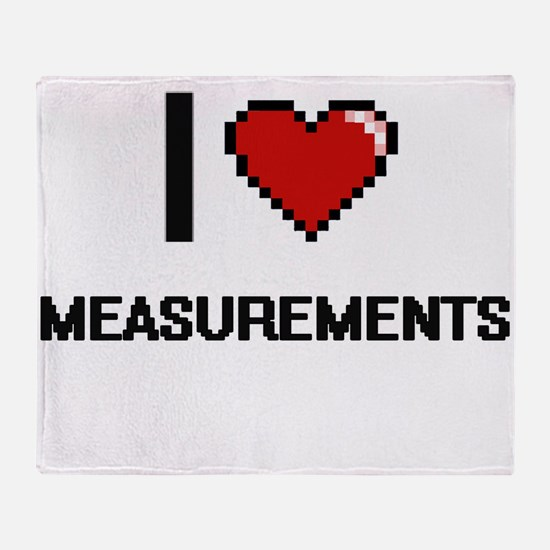 I Love Measurements Throw Blanket