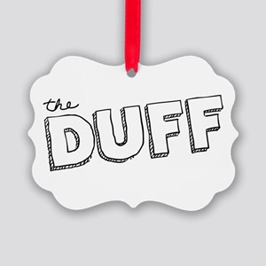 The DUFF Doodled Text Ornament