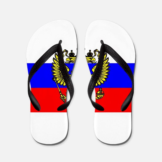 Flag of Russia - Trikolor Flip Flops