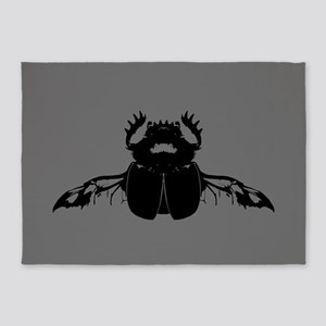 Scarab Beetle 5'x7'Area Rug