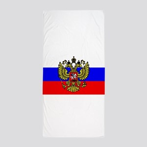 Flag of Russia - Trikolor Beach Towel