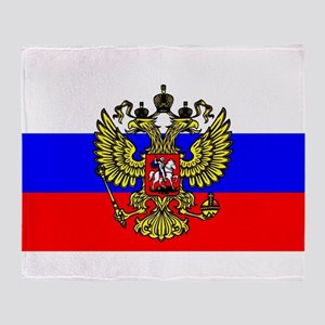 Flag of Russia - Trikolor Throw Blanket