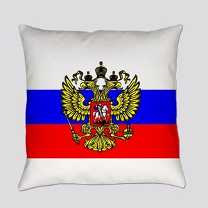 Flag of Russia - Trikolor Everyday Pillow