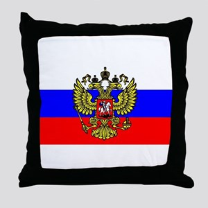 Flag of Russia - Trikolor Throw Pillow
