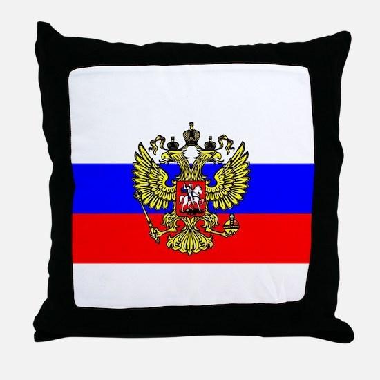 Flag of Russia - Trikolor Throw Pillow